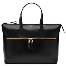 Buy Reiss Hadison Leather Briefcase, Black Online at johnlewis.com