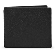 Buy Reiss Mister Leather Fold Wallet, Black Online at johnlewis.com