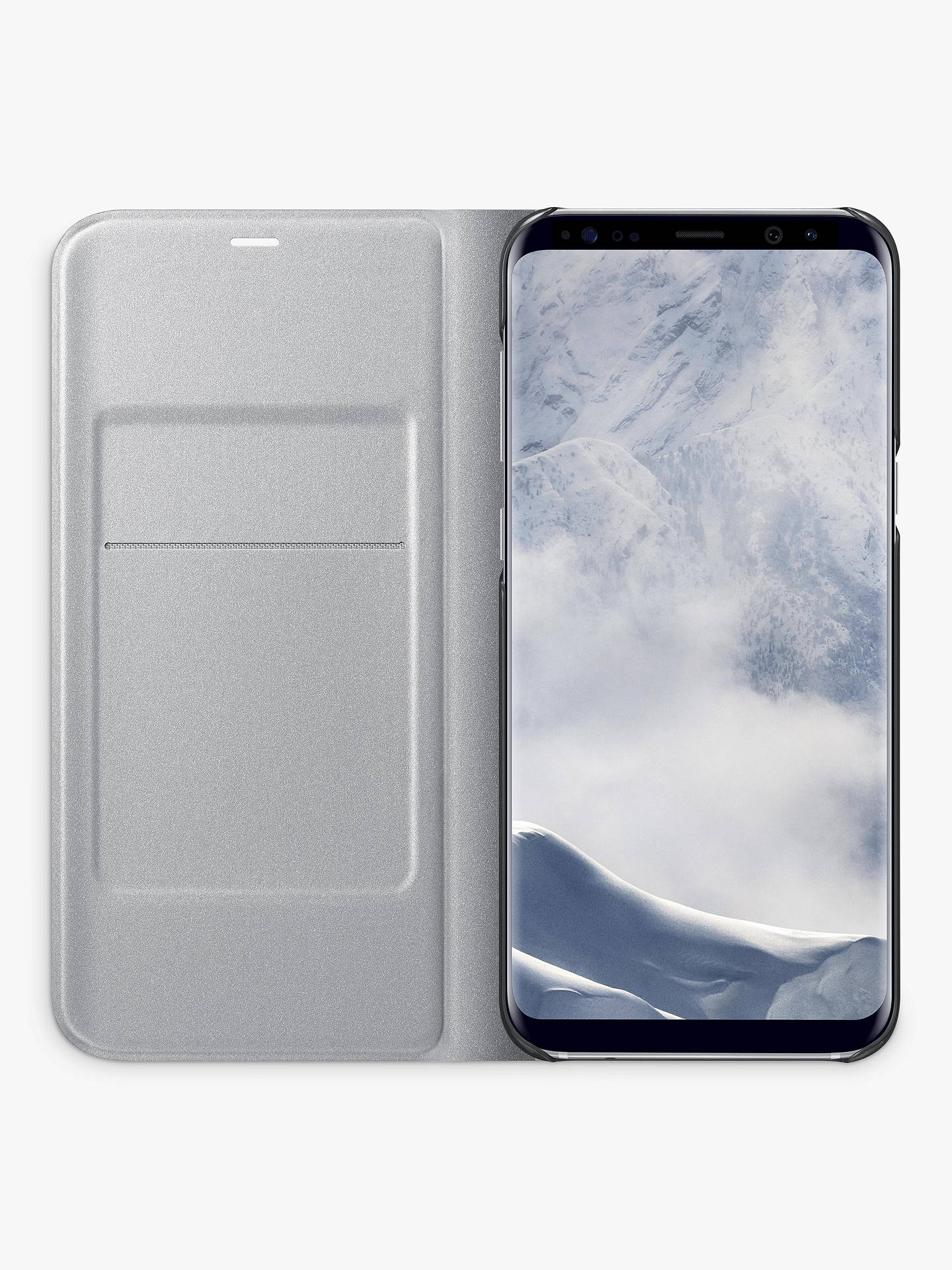 BuySamsung Galaxy S8 LED Cover, Silver Online at johnlewis.com
