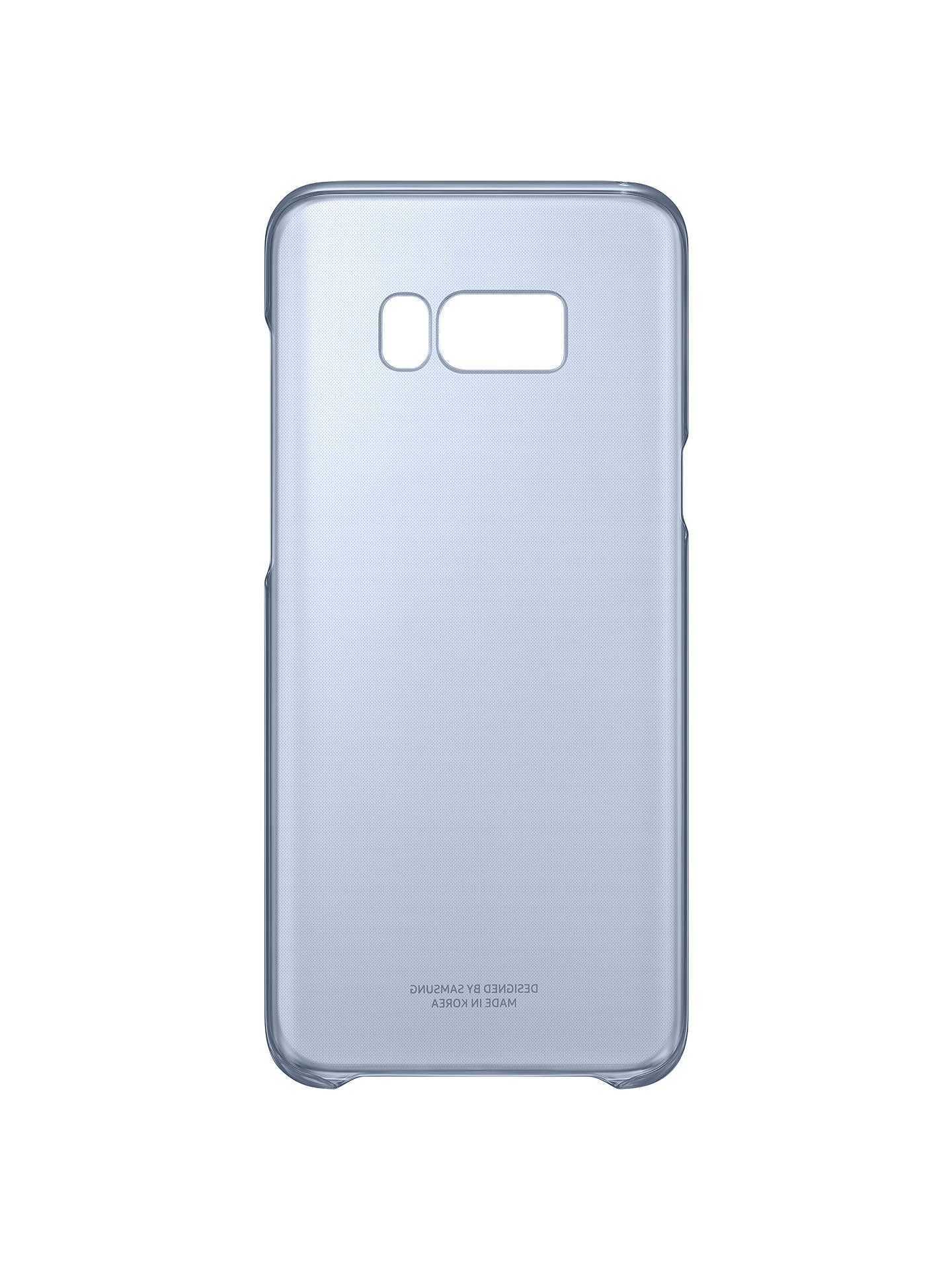 Buy Samsung Galaxy S8 Plus Clear Cover, Blue Online at johnlewis.com