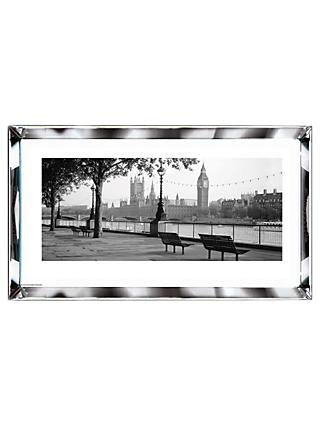 Brookpace, The Manhattan Collection - Thames, Big Ben, London Framed Print, 101.5 x 51cm