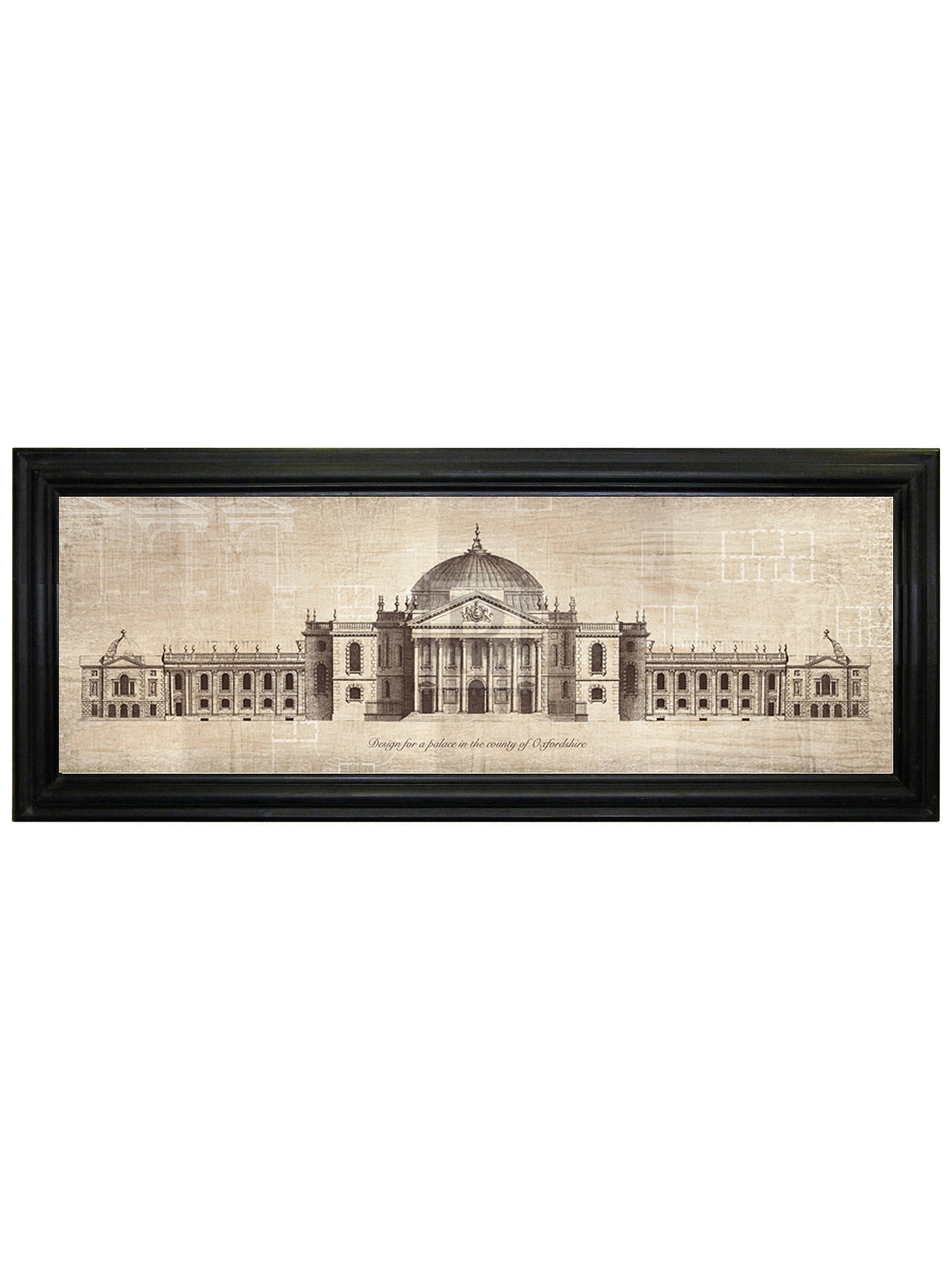 BuyBrookpace - Palace In Oxfordshire Framed Print, 103 x 42cm Online at johnlewis.com