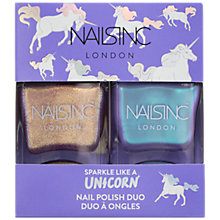Buy Nails inc Sparkle Like a Unicorn Nail Polish Duo Kit, 2 x 14ml Online at johnlewis.com