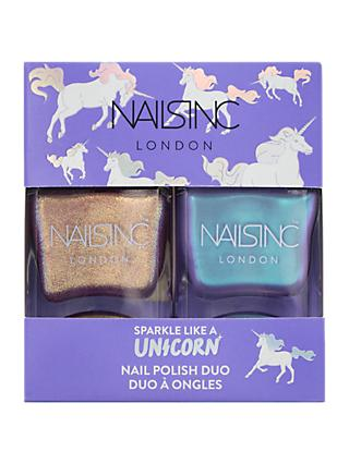 Nails Inc Sparkle Like a Unicorn Nail Polish Duo Kit, 2 x 14ml