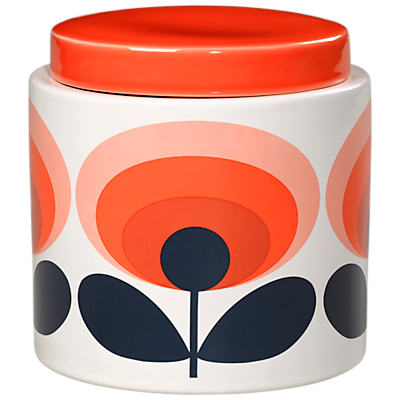 Orla Kiely 70s Retro Flower Kitchen Storage Jar, 1L