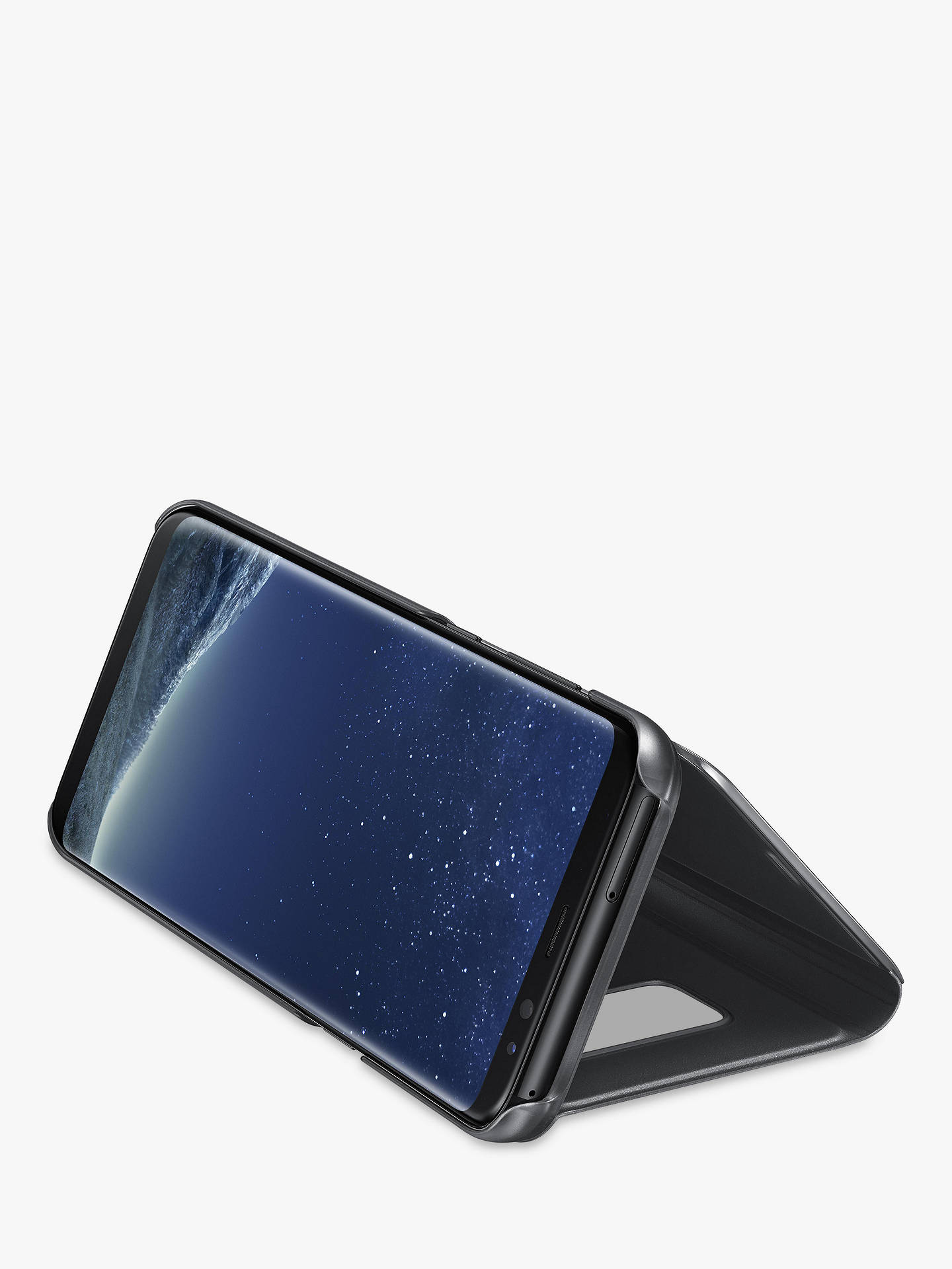 Buy Samsung Galaxy S8 Plus Clear View Stand Cover, Black Online at johnlewis.com