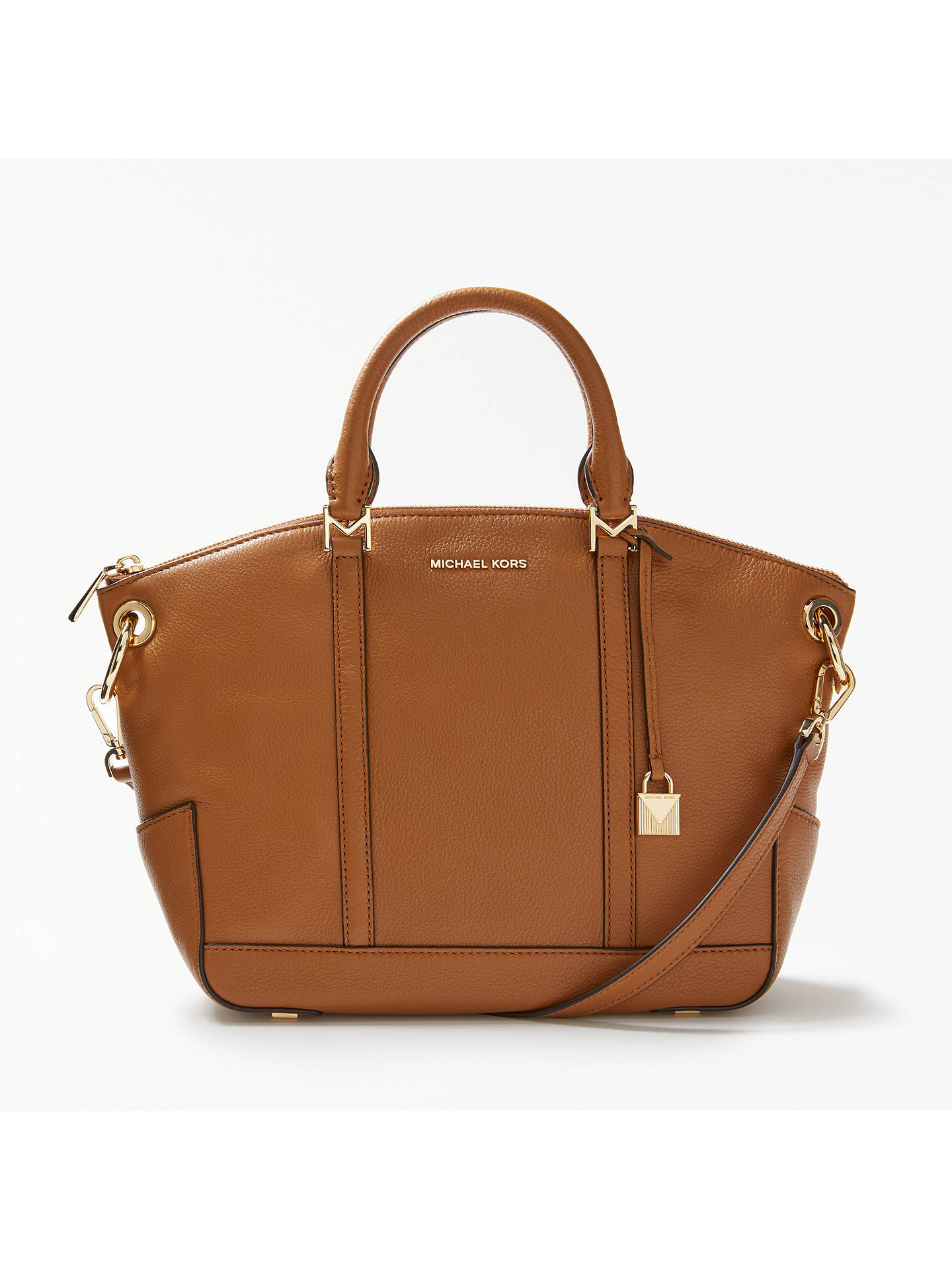 829200119369 Buy MICHAEL Michael Kors Beckett Leather Medium Grab Bag, Acorn Online at  johnlewis.com ...