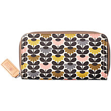 Buy Orla Kiely Mini Wild Daisy Zip Around Purse, Multi Online at johnlewis.com