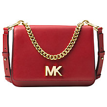 Buy MICHAEL Michael Kors Mott Leather Large Shoulder Bag Online at johnlewis.com
