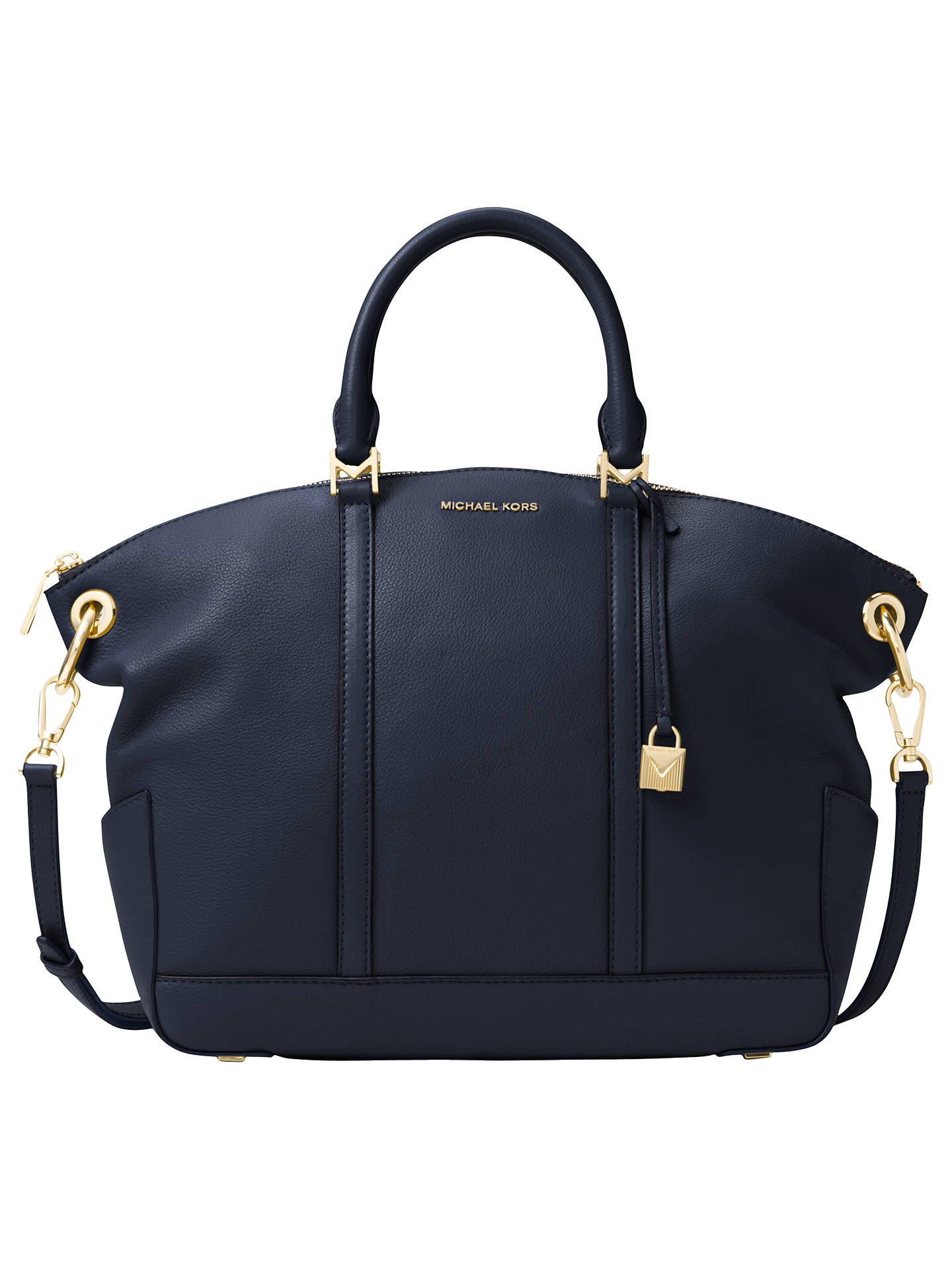 6c0e292e231d Buy MICHAEL Michael Kors Beckett Leather Large Grab Bag, Admiral Online at  johnlewis.com ...