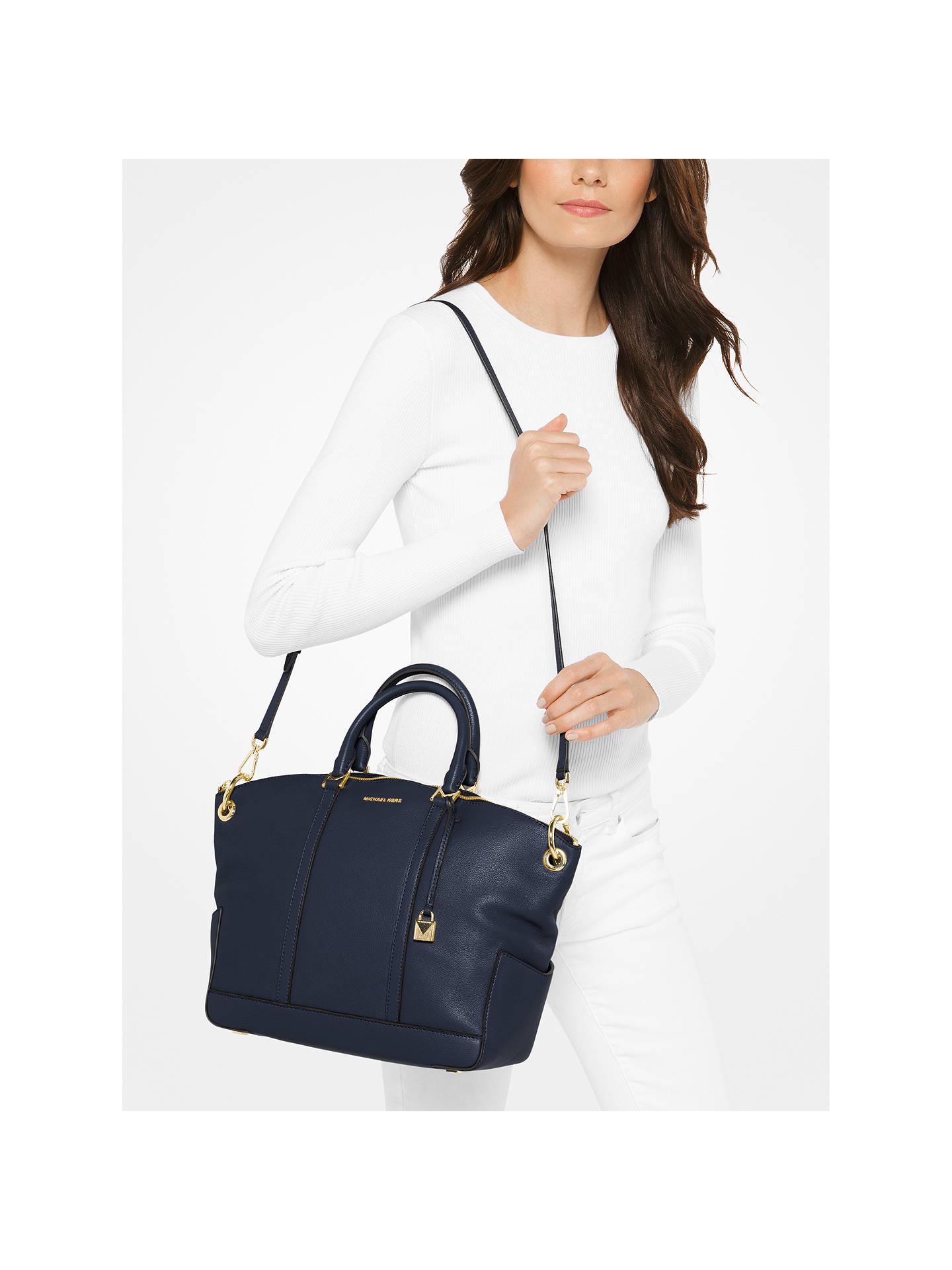 b4e1d26a0079 ... Buy MICHAEL Michael Kors Beckett Leather Large Grab Bag, Admiral Online  at johnlewis.com
