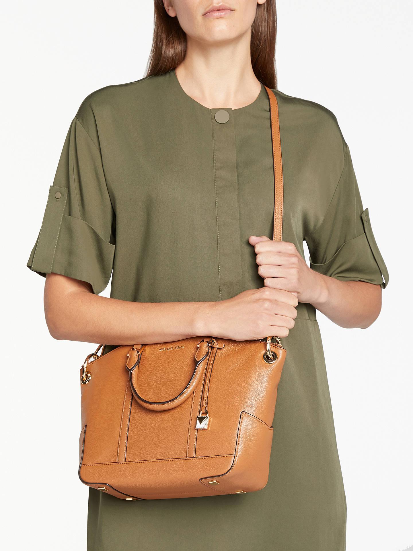 f45a1829abdd ... Buy MICHAEL Michael Kors Beckett Leather Medium Grab Bag, Acorn Online  at johnlewis.com ...