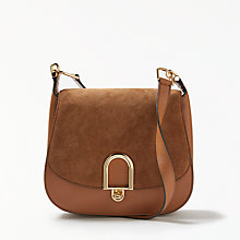 Buy MICHAEL Michael Kors Delfina Large Leather Saddle Bag, Acorn Online at johnlewis.com