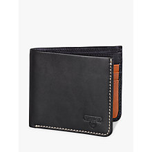 Buy Stanley Bi Fold Leather Wallet, Black Online at johnlewis.com