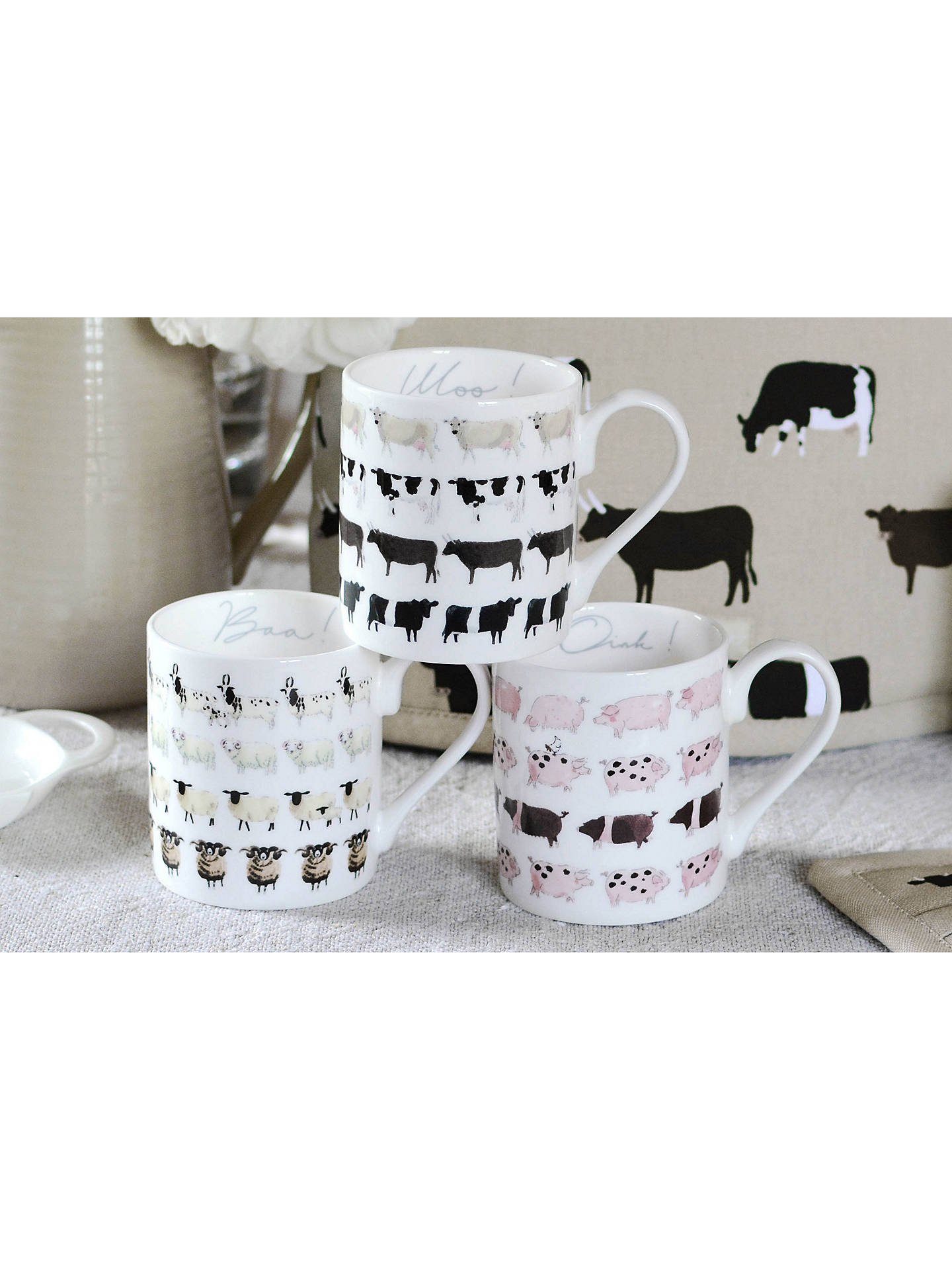 BuySophie Allport Pig Mug, 275ml Online at johnlewis.com