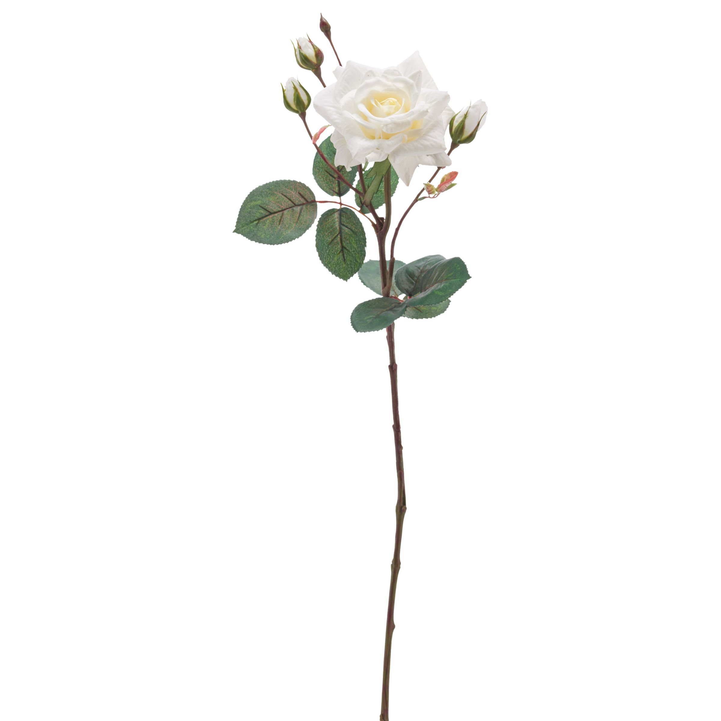 Peony Artificial Single Stem Rose White At John Lewis Partners