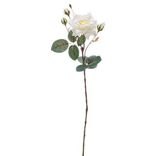 White artificial flowers plants john lewis peony artificial single stem rose white mightylinksfo