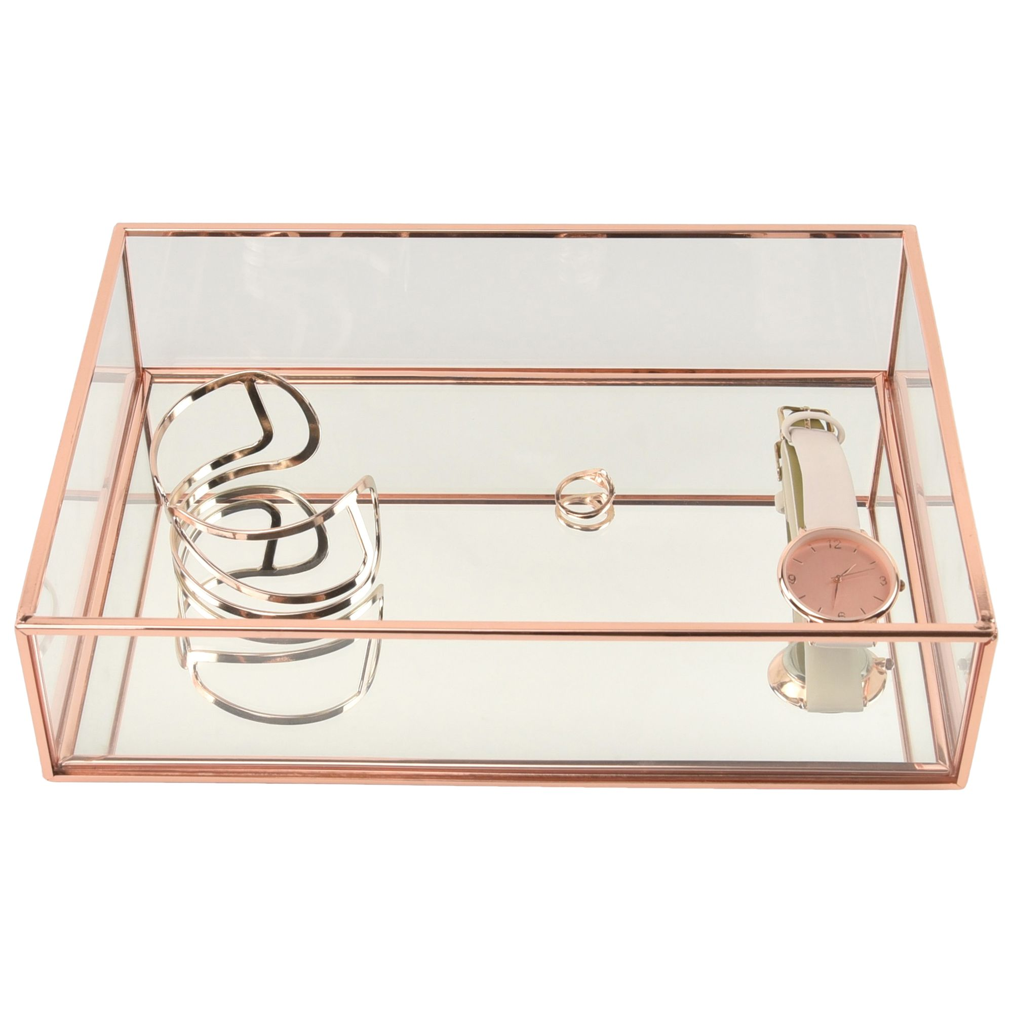 Stackers Classic Deep Open Jewellery Box Rose Gold at John Lewis