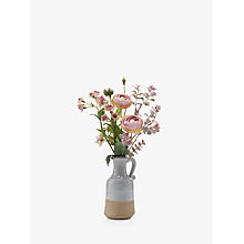 Buy Artificial Peony Pink Astrantia and Ranuncula in Blue Jug Online at johnlewis.com