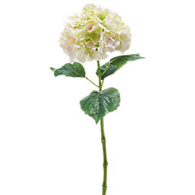 Buy Peony Artificial Hydrangea Single Stem, Pink/Green Online at johnlewis.com