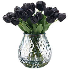 Buy Peony Artificial Black Tulips In Smoke Vase Online at johnlewis.com