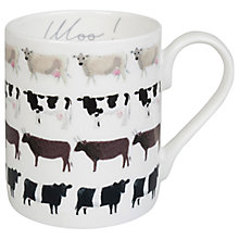 Buy Sophie Allport Cow Mug, White, 275ml Online at johnlewis.com