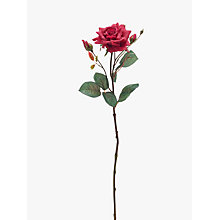 Buy Peony Artificial Single Stem Rose, Red Online at johnlewis.com