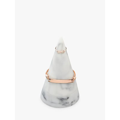 Image of Stackers Marble Effect Large Jewellery Storage Cone, White