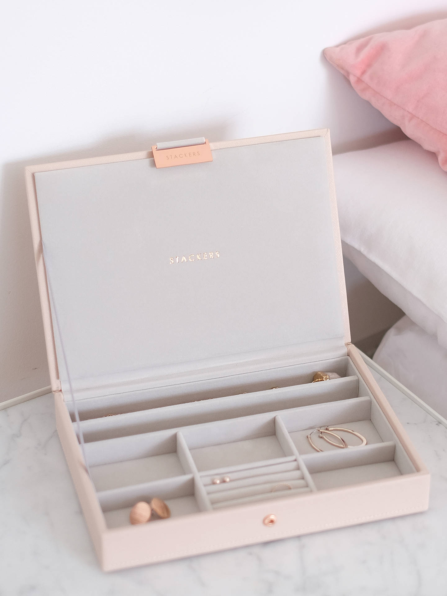 BuyStackers Jewellery Box Lid, Blush Pink Online at johnlewis.com