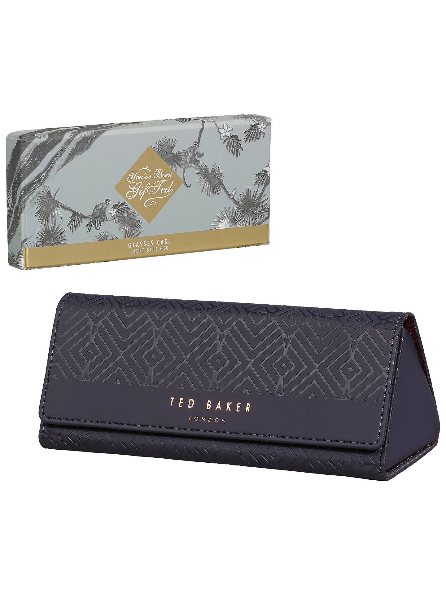 the best attitude 69f78 a89fb Ted Baker Blue Glasses Case at John Lewis & Partners