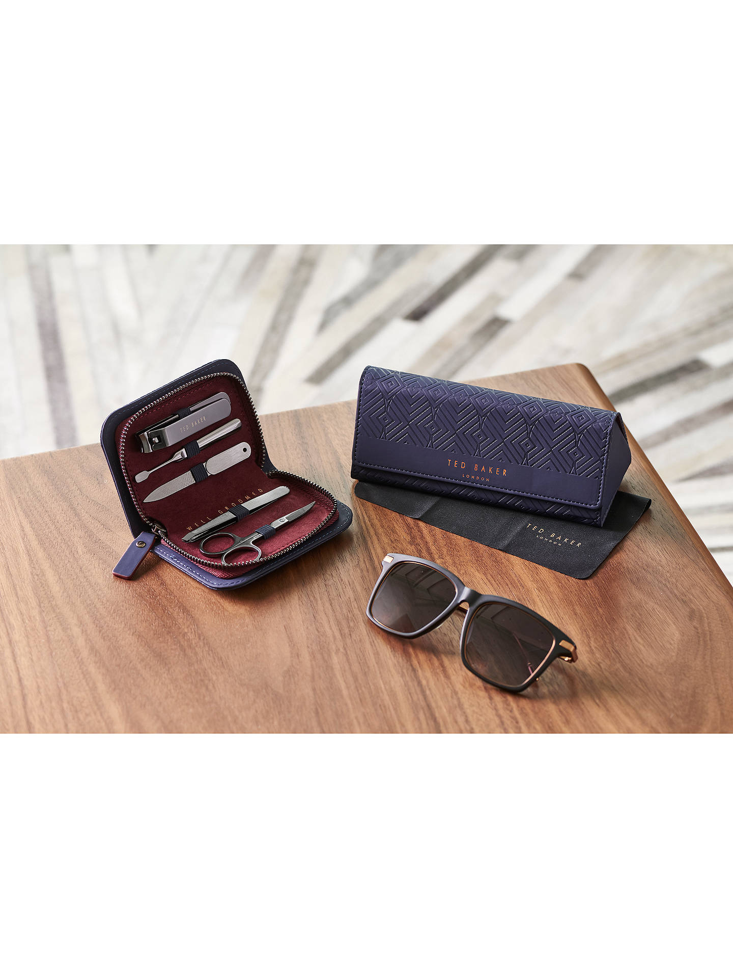 e8e79721d ... Buy Ted Baker Blue Glasses Case Online at johnlewis.com ...