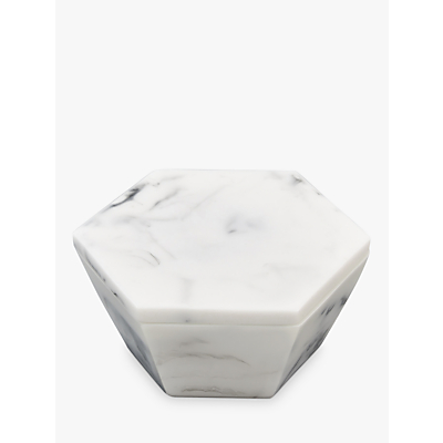 Image of Stackers Marble Effect Geometric Trinket Jewellery Box, White