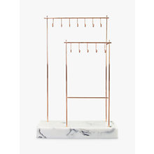 Buy Stackers 12-Hook Jewellery Stand with Marble Effect Base, Rose Gold Online at johnlewis.com