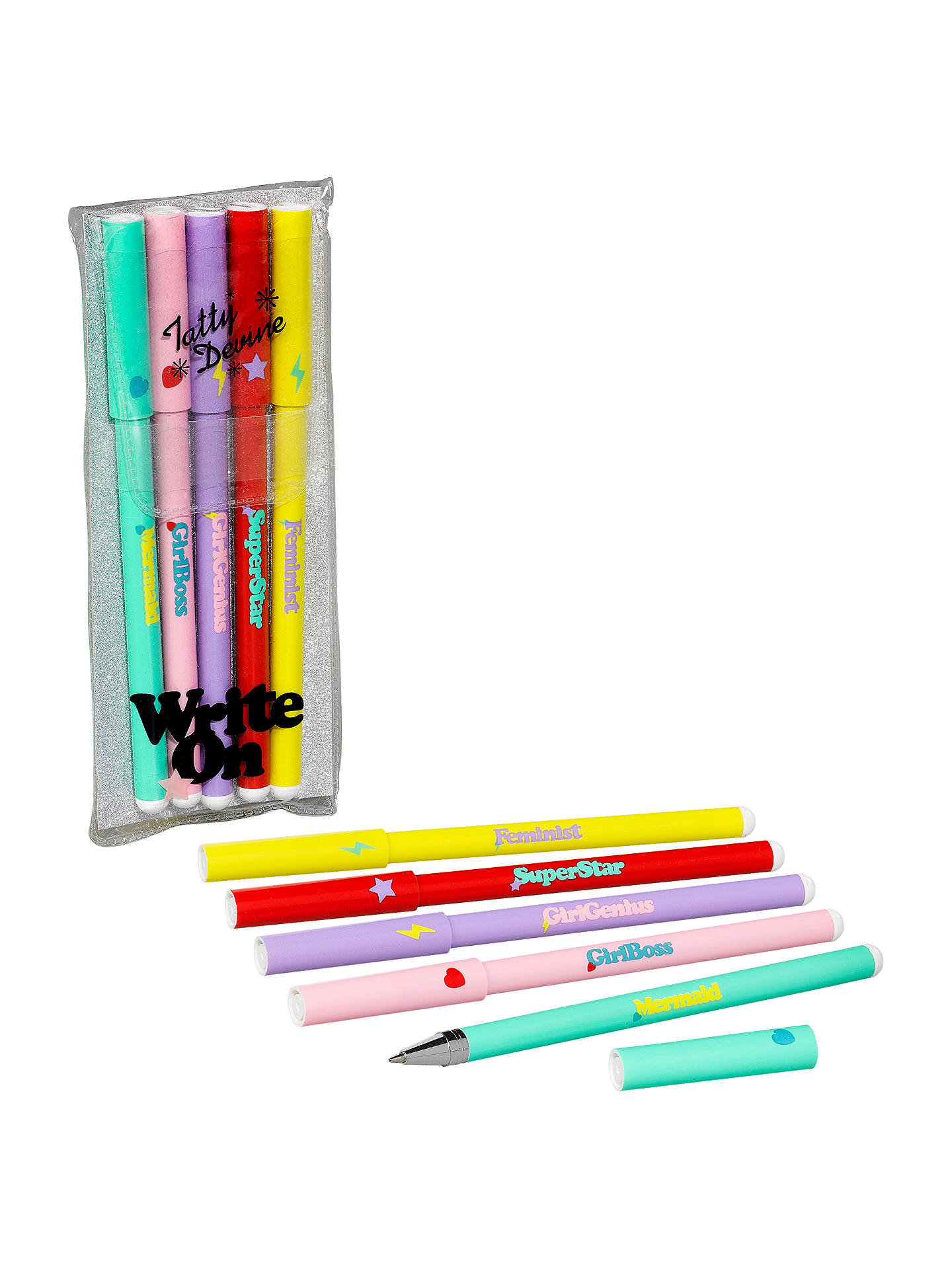 Buy Tatty Devine Personalised Pens, Pack of 5 Online at johnlewis.com