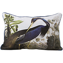 Buy Magpie Heron Cushion, Blue/White Online at johnlewis.com