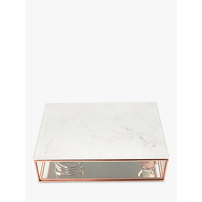 Image of Stackers Classic Deep Jewellery Box with Marble Effect Lid, Rose Gold