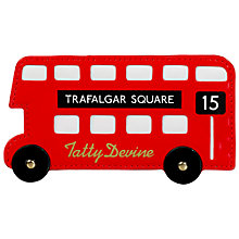 Buy Tatty Devine London Bus Card Holder, Red Online at johnlewis.com