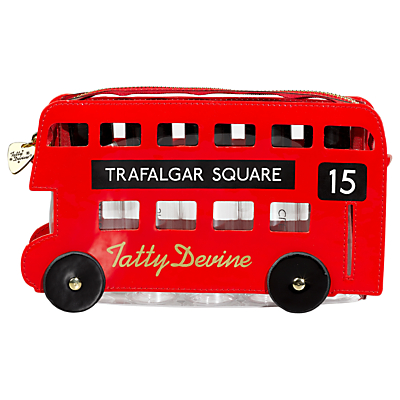 Tatty Devine London Bus Wash Bag, Red
