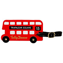 Buy Tatty Devine London Bus Luggage Tag, Red Online at johnlewis.com
