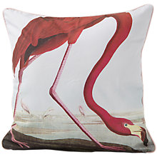 Buy Magpie Flamingo Cushion, Pink/White Online at johnlewis.com