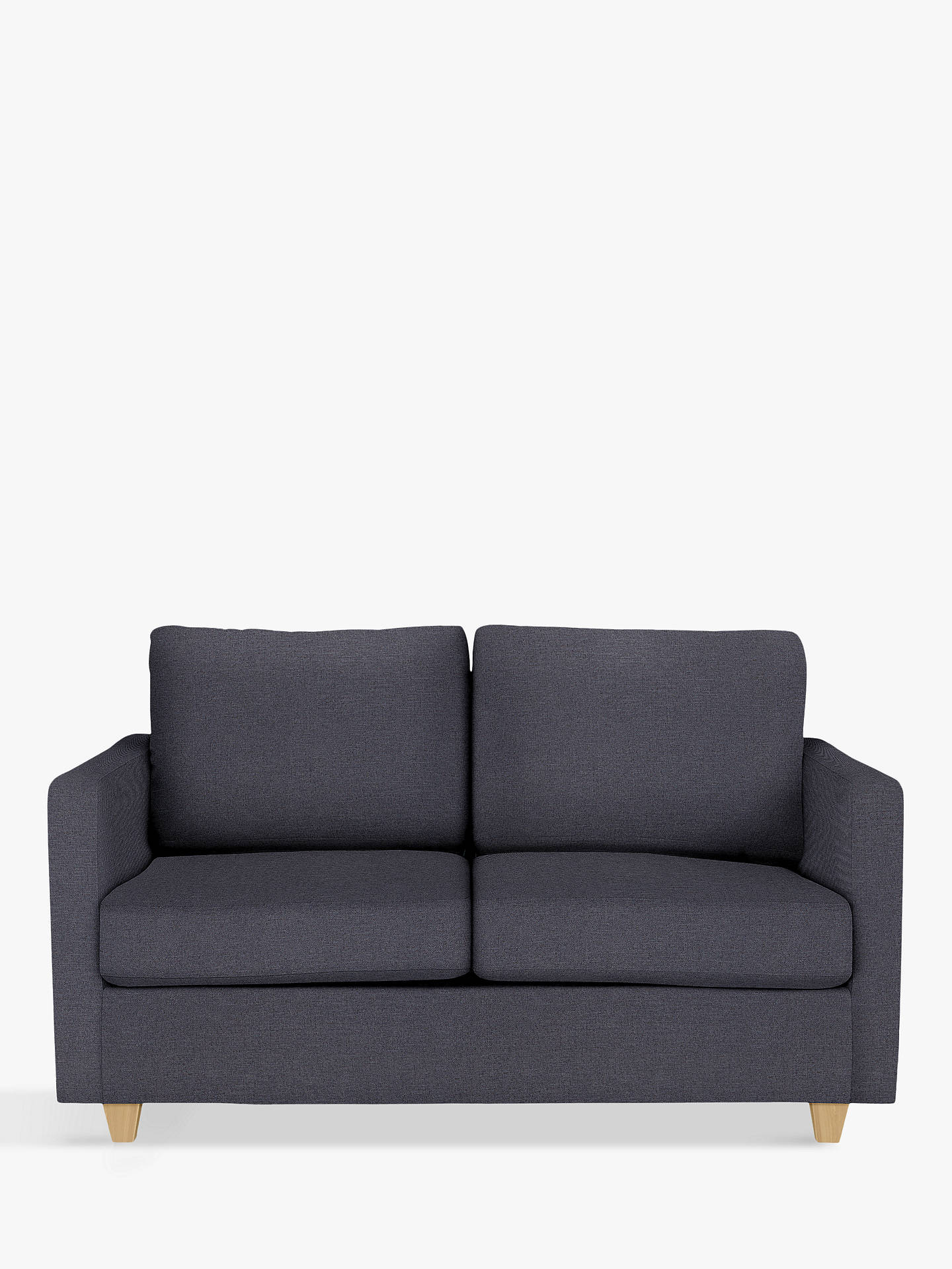 Strange John Lewis Partners Barlow Small 2 Seater Sofa Bed With Pocket Sprung Mattress Light Leg Bevan Navy Squirreltailoven Fun Painted Chair Ideas Images Squirreltailovenorg