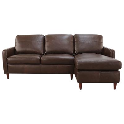 John Lewis Dalston Leather RHF Chaise End Sofa