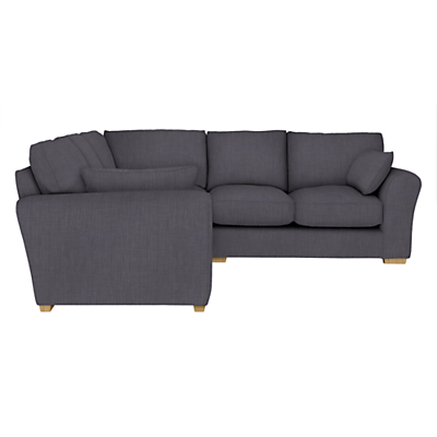 John Lewis Leon Corner Sofa, Light Leg