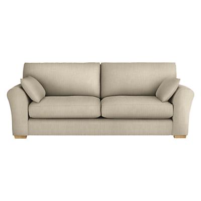 John Lewis Leon Grand 4 Seater Sofa, Light Leg
