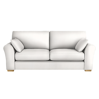 John Lewis Leon Large 3 Seater Sofa, Light Leg