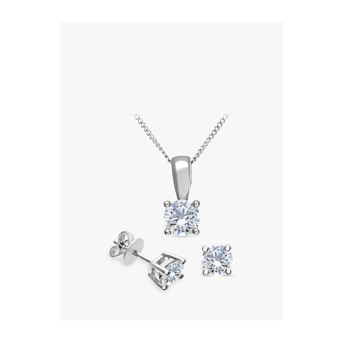 pendant solitaire jewellery gold p cut necklace brilliant round white diamond