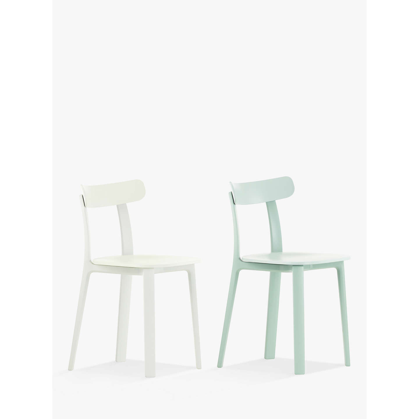 BuyVitra All Plastic Chair, Set of 2, White & Ice Grey Online at johnlewis.com
