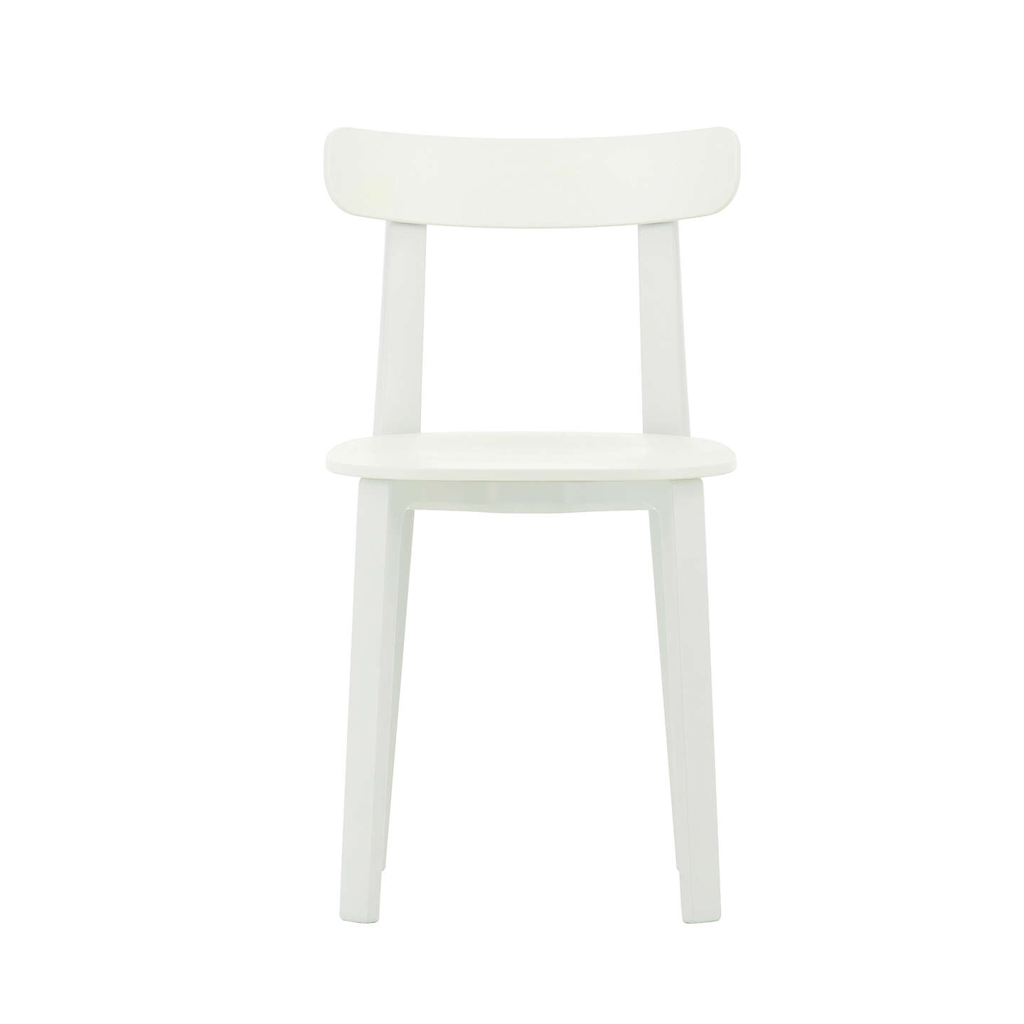 BuyVitra All Plastic Chair, Set of 2, White Online at johnlewis.com