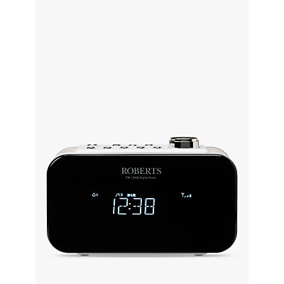Image of DAB/DAB+/FM Clock Radio USB Charger White