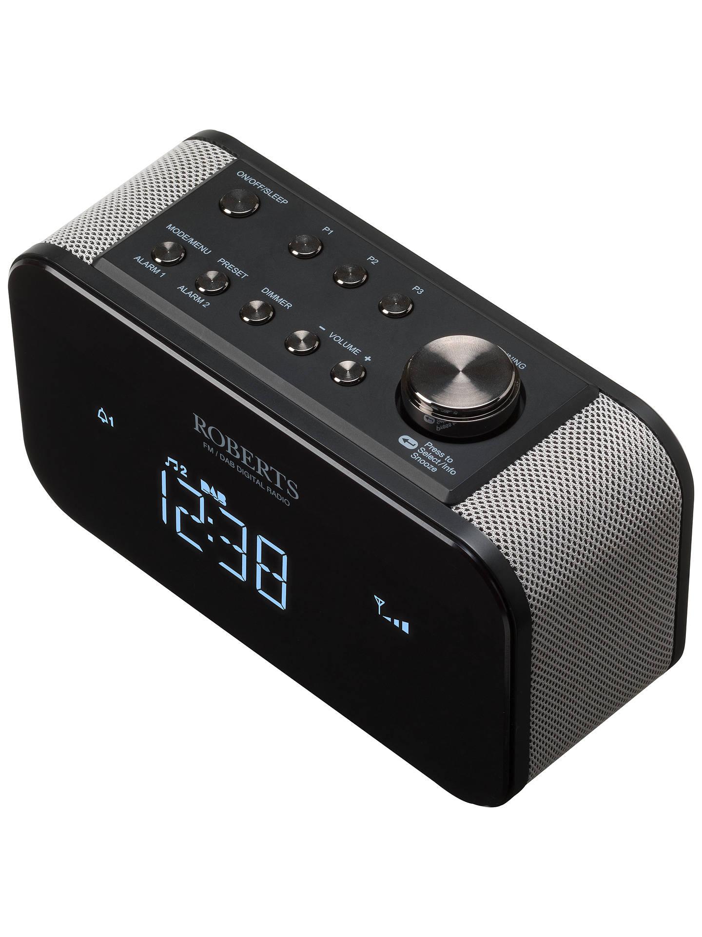 Roberts Ortus 2 Dab Dab Fm Digital Alarm Clock Radio At John Lewis Partners